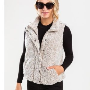 NWT Francesca's Sherpa Vest